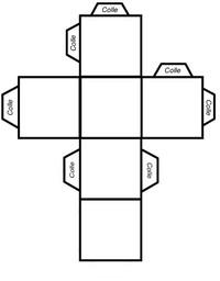 Patron cube l 39 atypique blog - Faire un cube en papier ...